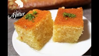 Portakalli Klasik Revani tatlisi Tarifi I Şerbetli Tatlılar