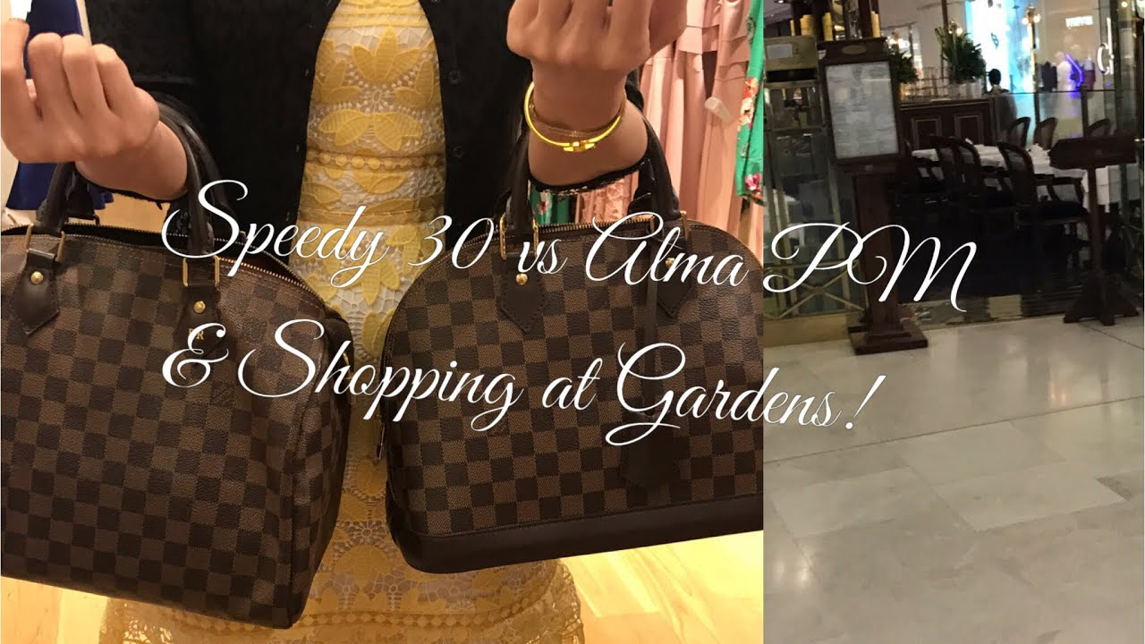 b081ea075d Louis Vuitton Speedy 30 vs Alma PM (DE)   Shopping at the Gardens Mall  Kuala Lumpur!