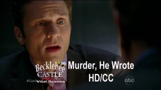 """Castle 5x04  """"Murder, He Wrote"""" Ryan Finds Out Secret Relationship (HD/CC)"""