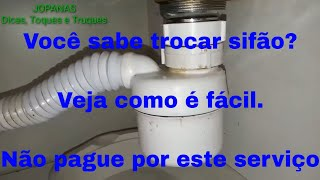 Como consertar sifão da pia - Como consertar sifão do lavatório - como instalar sifão