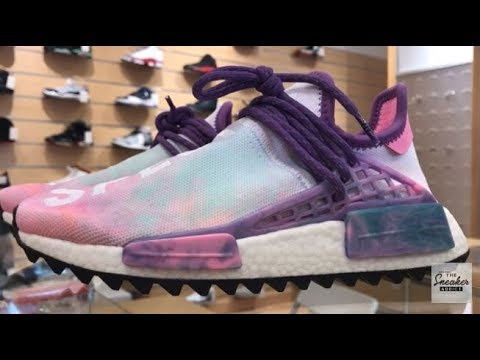 sale retailer 977af c65e9 Pharrell X Adidas NMD Human Race Pink Glow Hu Trail Holi Cotton Candy Shoe  Review With Dj Delz