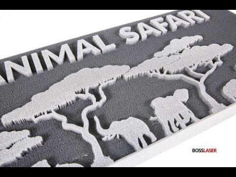Laser Cut / Engraved Foam (Polyurethane) - Free File Download