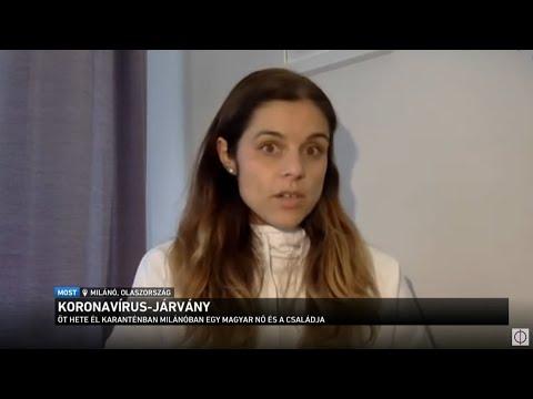 Öt hete él karanténban Milánóban egy magyar nő és a családja