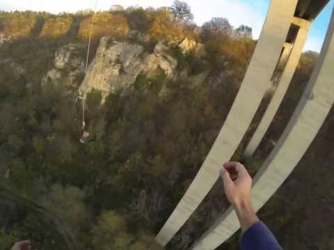 Bungee jump near Ruse, Bulgaria with GoPro Hero3 Black