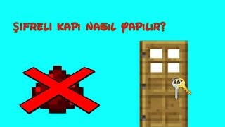 Minecraft PE - Şifreli Kapı Nasıl Yapılır?
