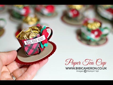 Paper teacup -  treat holder ( tacita de té en papel  )