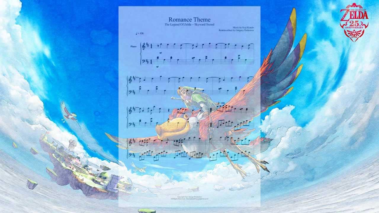The Legend Of Zelda ~ Skyward Sword - Romance Theme (Piano ...
