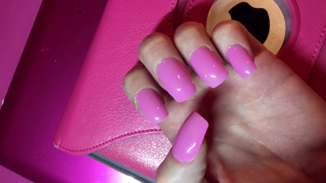 Barbie Pink Nails using KISS Full Cover Nails at home | Rachel Evans ...