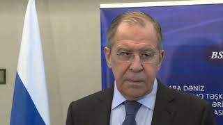 Пресс-подход С.Лаврова по итогам СМИД ОЧЭС в Баку (1)