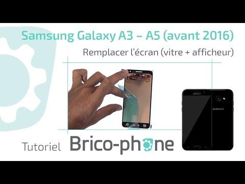 TUTO : Samsung Galaxy A3 – A5 (avant 2016) changer l'écran (vitre + afficheur) démontage + remontage