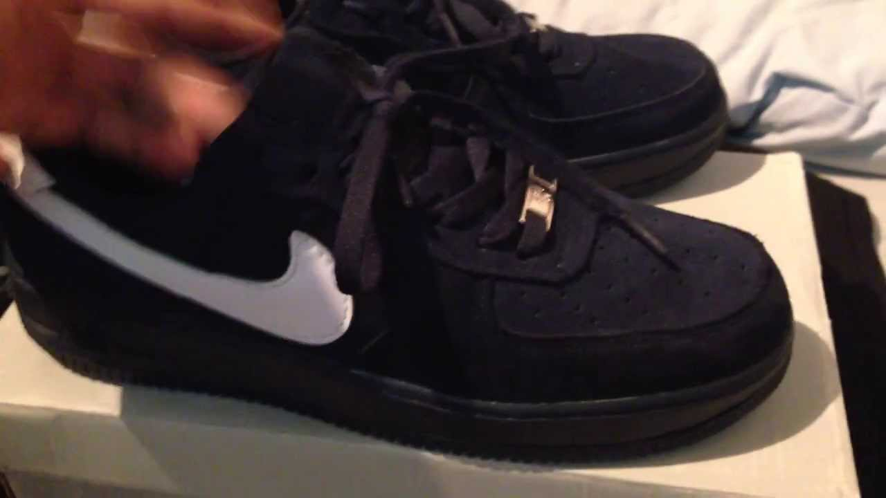 Nike Air Force Black Suede Low