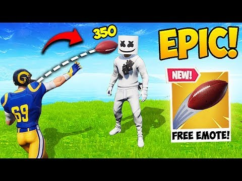 FREE NFL EMOTE FUNNY MOMENTS! - Fortnite Funny Fails and WTF Moments! #459 thumbnail