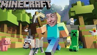 Я ПОПАЛ В МАЙНКРАФТ ЭПИЗОД 1 Построил дом Нуб Minecraft нашёл пещеру
