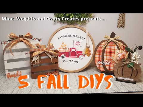 5 Fall Dollar Store DIY Projects | Target Dollar Spot Projects