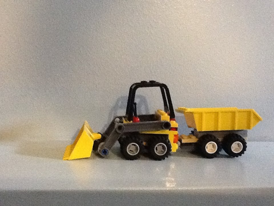 Lego Tractor Trailer : Custom built lego tractor and trailer hd youtube