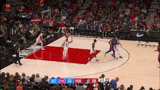 3rd Quarter, One Box Video: Portland Trail Blazers vs. Detroit Pistons