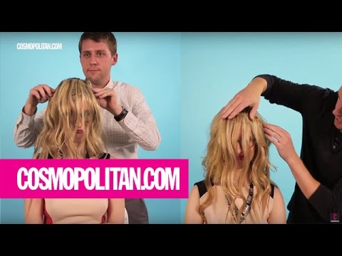 Clueless Guys Put Hair Extensions On A Woman | Cosmopolitan