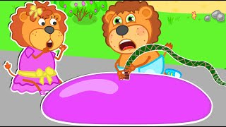 Lion Family Official Channel | Little Lion always want to play with toys | Cartoon for Kids