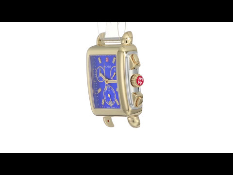 Michele Deco Cobalt Diamond Dial Two-Tone  SKU:8918208