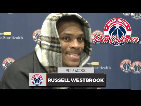 Russell Westbrook looks genuinely sad and depressd during postgame interview
