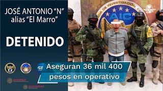 """La Secretaría de la Defensa Nacional detalló que la detención de """"El Marro"""" ocurrió al ejecutar una orden de cateo en dos inmuebles ubicados en el municipio de Santa Cruz de Juventino Rosas"""