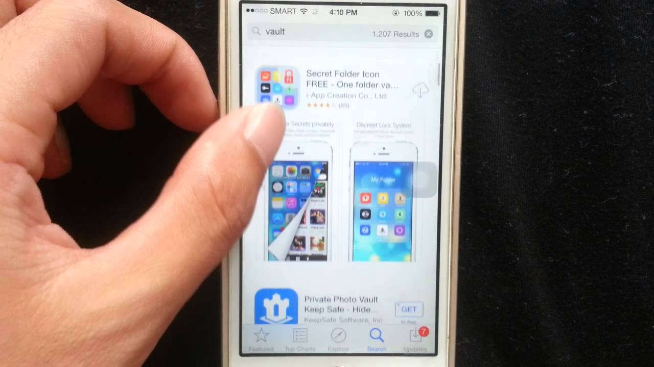How to Hide Photos, Videos on Iphone 6, 5s - YouTube