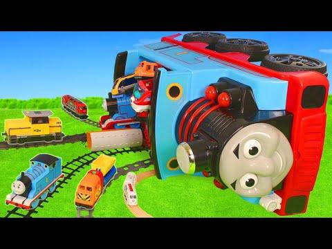 Thomas Train Crash: Toy Vehicles, Tractor, Trucks & Cars   Train Toys for Kids