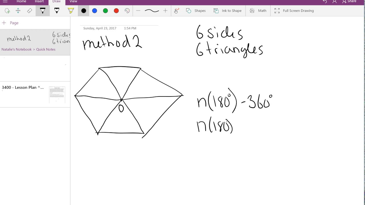 Interior Angle Sum Of Convex And Concave Polygons   4170 Presentation