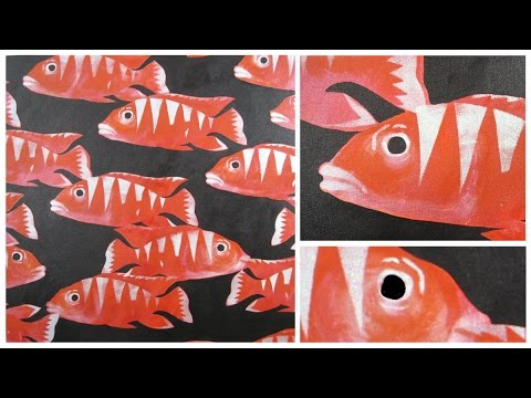 Art Lesson: Red School Of Fish In Acrylic