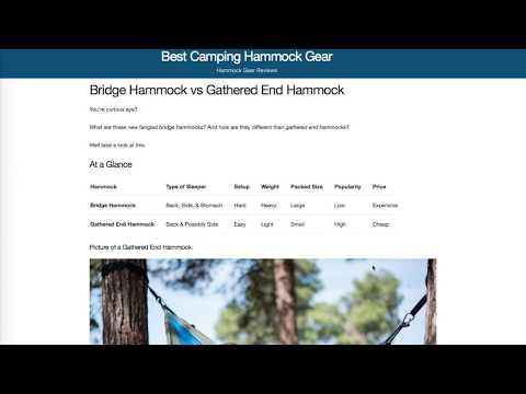 bridge or gathered end hammocks  what u0027s better  bridge or gathered end hammocks  what u0027s better    youtube  rh   youtube