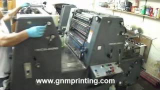 G&M Graphics  Record Label printing - Heidelberg printing press