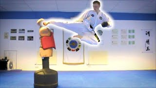 Taekwondo Kicking Sampler on the BOB XL | Martial Arts Training