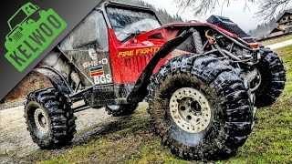 Jeep vs GHE O Fighter vs Suzuki vs Mitsubishi off road challenge plaiul foii KELWOO