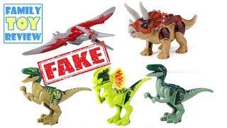 Lego Jurassic World Fallen Kingdom Toys - FAKE ebay LEGO Jurassic Park Dinosaur Figures Toy Review