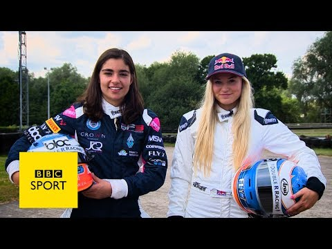 Racing driver v Snowboarder: Who's faster? - BBC Sport