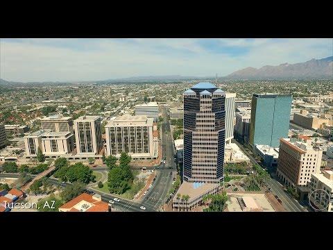 Aerial Video of Downtown Tucson, AZ