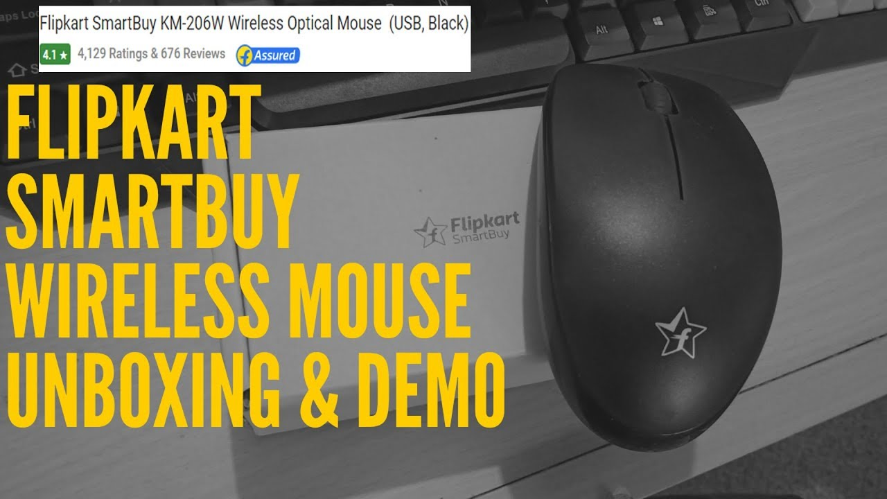 e542bfc58aa Flipkart SmartBuy Wireless Optical Mouse - Unboxing and demo - YouTube