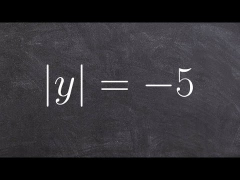 How Do You Solve an Absolute Value Equation when Equal to a Negative Number