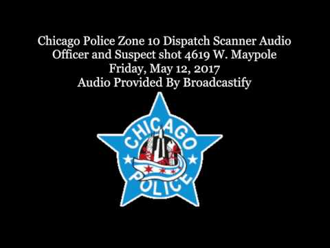 Chicago Police Zone 10 Dispatch Scanner Audio Officer and Suspect shot