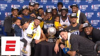 [FULL] Golden State Warriors win 2018 Western Conference finals: The trophy presentation | ESPN