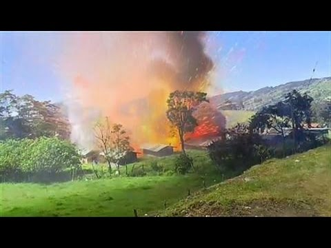Download Dramatic Scene as Fireworks Factory Explodes
