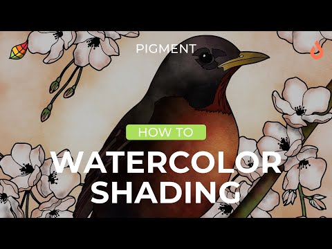 Coloring Tutorial: Shading using the Watercolor brush in Pigment