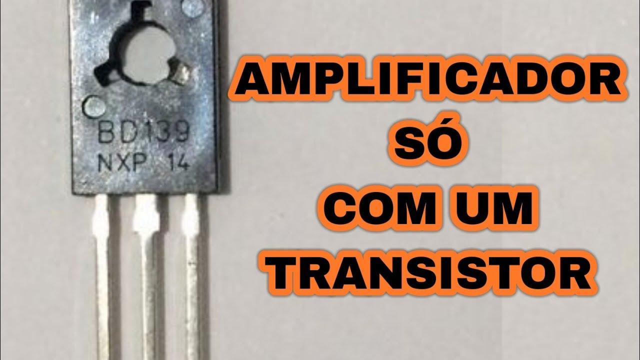 Amplificador só com um TRANSISTOR 13003