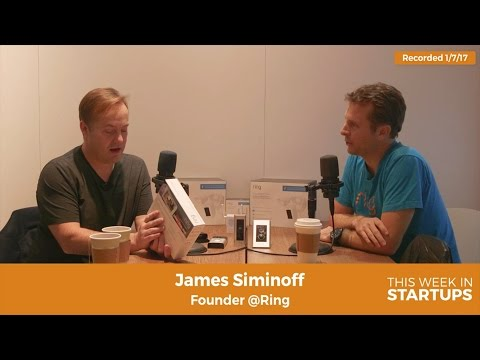 Filmed at CES 2017! Ring CEO James Siminoff on building
