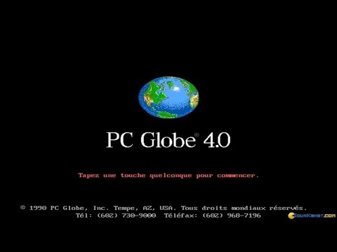 PC Globe gameplay (PC Game, 1990)