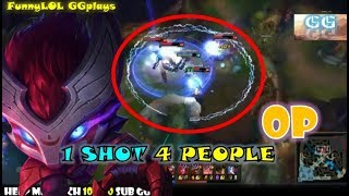 英雄联盟 - LOL - Best Kennen Montage -1 SHOT 4 PEOPLE! - How to play Kennen Like a Boss《GGPlays》
