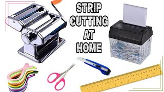 Easiest Way of Cutting Quilling Strips From Paper At Home   DIY Quilling Strips From A4 Paper