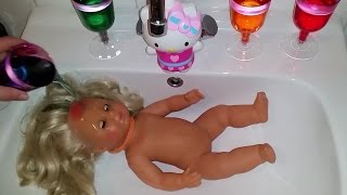 Kleuren leren/SICK Baby DOLL Taking Learning Color Bath Learning COLORS