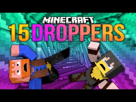 Minecraft: 15 DROPPERS (Dumb and Dumber)