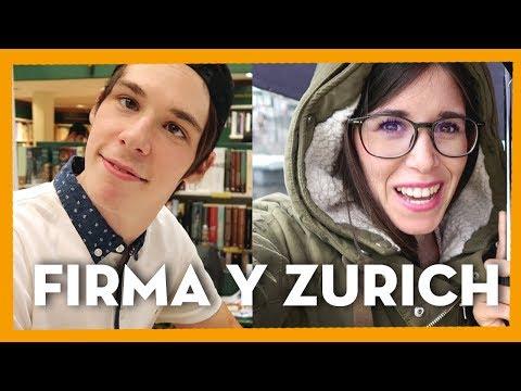 FIRMA DE LIBROS DE MI HERMANO Y VIAJE A ZURICH  | Weekly Sara Pecas